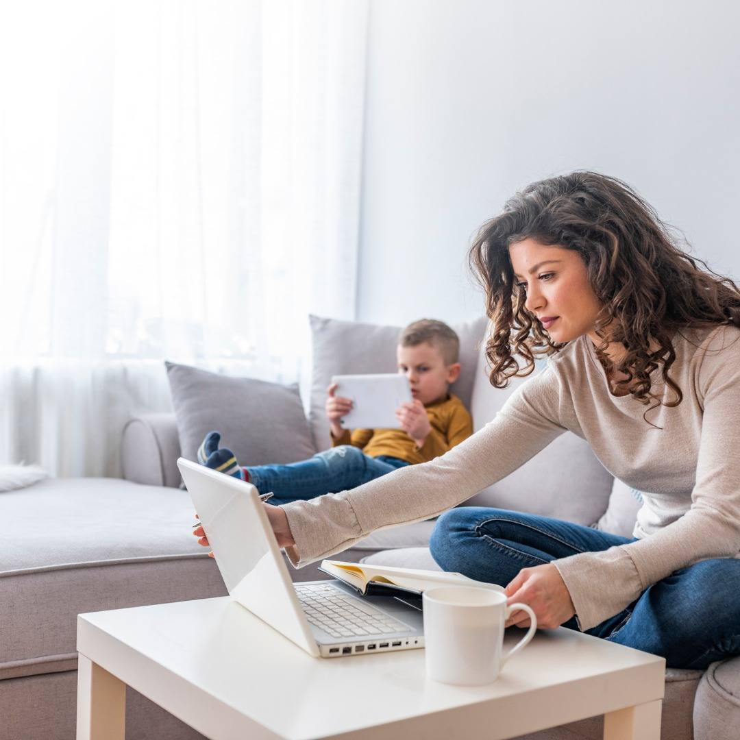 busy-mother-looking for work-from-home